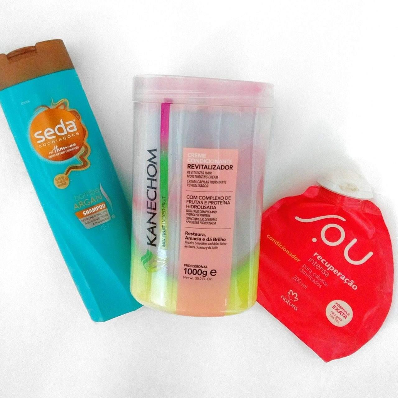 Shampoo, Máscara e Condicionador