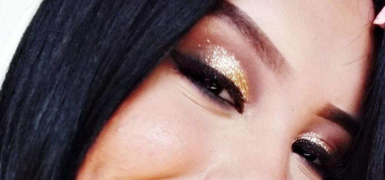 Make Glam Com Glitter Dourado